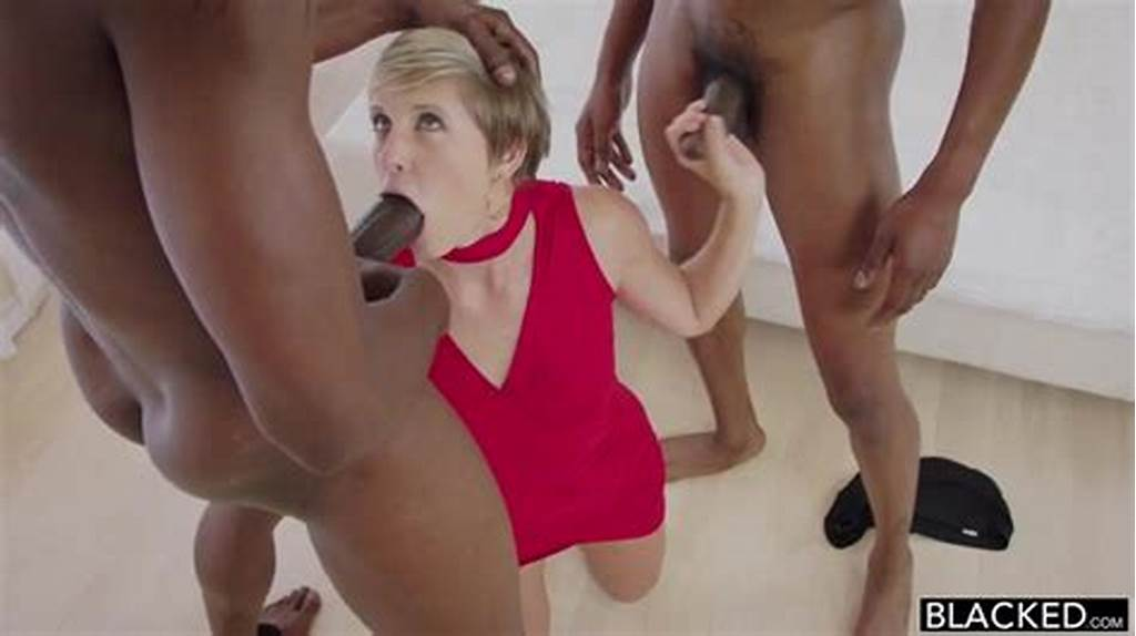 #Interracial #Mmf #Fun #With #Short #Haired #Makenna #Blue