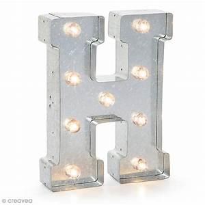 Lettre Metal Vintage : lettre lumineuse en m tal vintage h 25 x 18 5 x 4 5 cm lettre lumineuse led creavea ~ Teatrodelosmanantiales.com Idées de Décoration