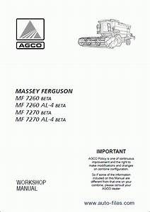 Massey Ferguson Combain 7260    7270 Beta  Repair Manuals