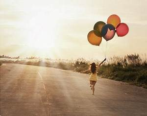 balloon, balloons, dress, h3rsmiletumblrcom, happiness ...