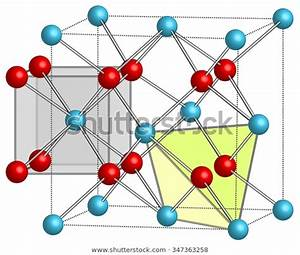Crystal Lattice Caf2 Calcium Fluoride Stock Illustration