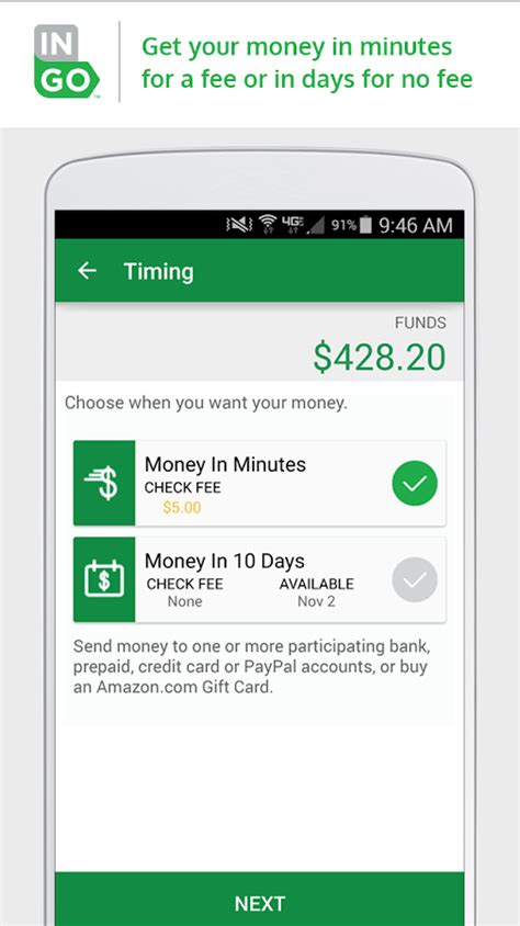 Maybe you would like to learn more about one of these? Ingo Money - Cash Checks Fast - Android Apps on Google Play
