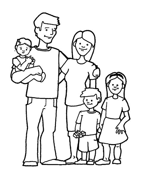 Family Colouring Pages Free High Quality Coloring Pages