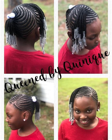 Image may contain: 2 people text Braids for kids Kid