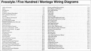 2006 Freestyle  500  Montego Wiring Diagram Manual Original