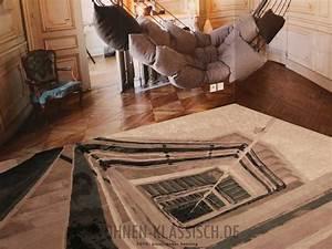 treppen teppich klassisch wohnen With balkon teppich mit tapete klassisch