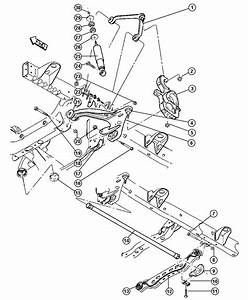 Dodge Ram 1500 Crossmember  Front Suspension  With
