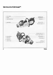 Stihl Ts 350 Cut Off Saw Miter Circular Saw Owners Manual