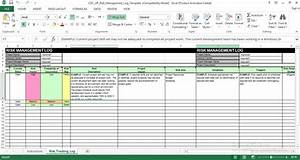 risk management log excel template free engineering With technical data package template