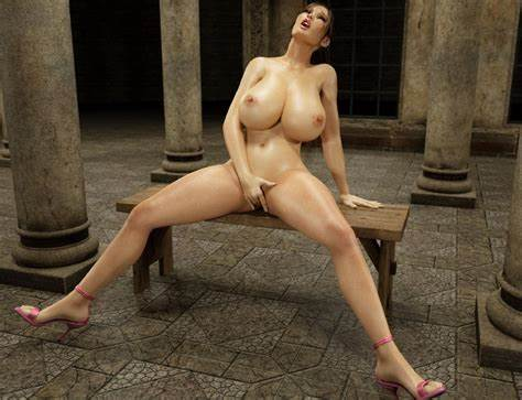 Party Masturbation Snatch Banged Monster Tits Upskirt Lara Croft Jerking Her Pink Hot 3D Ass
