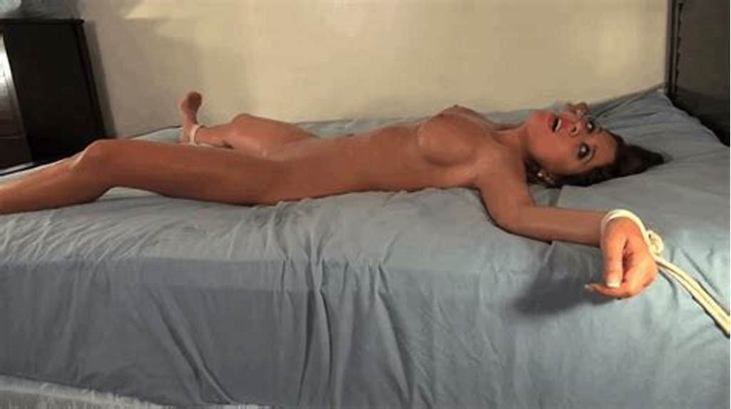 #Girls #Spread #Eagle #Tied #Up #In #Bed #Hard #Sex