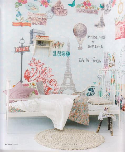Paris Themed Girls Room Love The Wall Paper And Lady