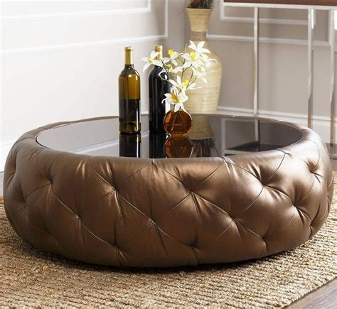 Buy round adeco coffee table with storage area side table décor end table black cocktail table furniture table: Ottoman Coffee Tables -10 Wonderful Must See Ideas in 2020 | Leather coffee table, Round coffee ...