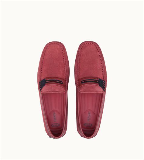 Tods ferrari dark blue shoes loafers for men. Tod's For Ferrari Tyre Gommino Driving Shoes in Red for Men - Lyst