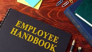 Employee Handbook Or Manual In An Office Stock Photo