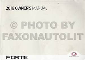 2016 Kia Forte Owners Manual