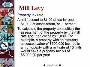 Mill Levy Definition