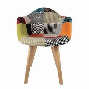 Fauteuil Scandinave Patchwork : fauteuil scandinave patchwork achat vente fauteuil cdiscount ~ Teatrodelosmanantiales.com Idées de Décoration