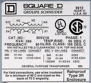 Square D Transformer Wiring Diagram
