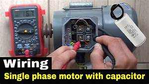 How To Wire Single Phase Motor With Start  Run  Permanent