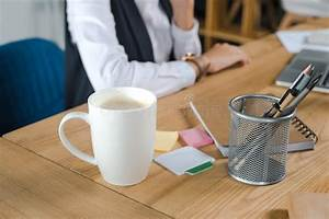 Cup, Of, Coffee, On, Desk, In, Office, Stock, Photo