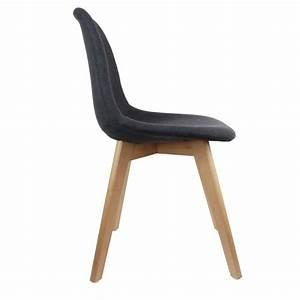 Chaise Tissu Noir : chaise scandinave tissu noir sofag ~ Teatrodelosmanantiales.com Idées de Décoration