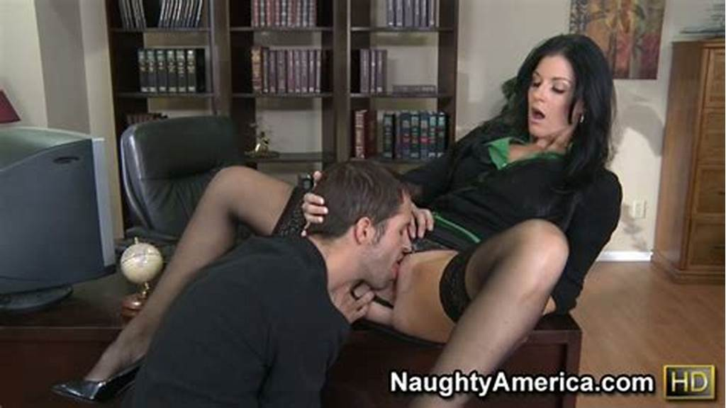 #She #Is #The #Boss #Fucking #Her #Employee #And #Sucking #His #Dick