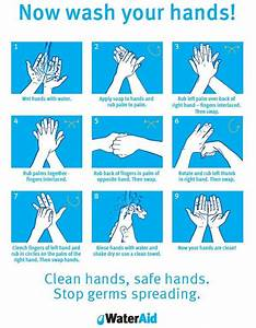 Hand Washing Guide That Is Hanged In My Office U0026 39 S Toilet