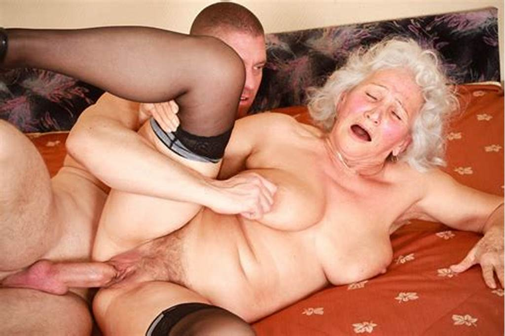 #Old #Gray #Haired #Granny #Marinoka #Fucks #With #Young #Man