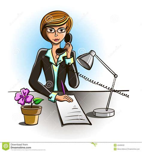 secretaire baise au bureau secrétaire illustration de vecteur image 40469532