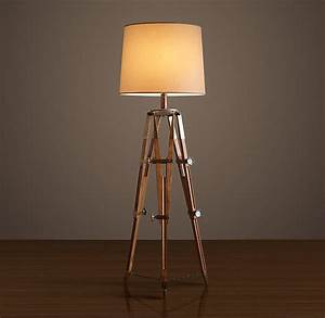 Tripod lamp michelia tripod floor lamp linden tripod for Restore wooden floor lamp