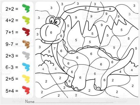 Fichas con sumas y restas para colorear Colorear imágenes