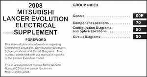 2008 Mitsubishi Lancer Evolution Wiring Diagram Manual Original