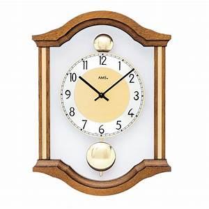 Wanduhr Mit Pendel : ams wanduhr 7447 4 mit pendel ~ Watch28wear.com Haus und Dekorationen