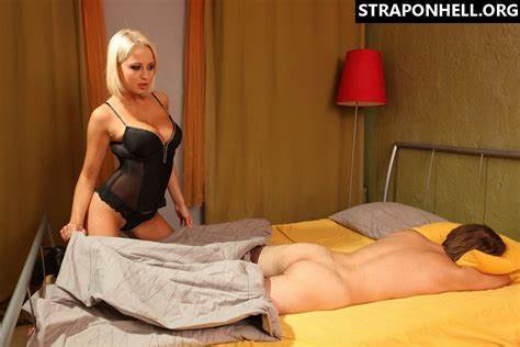 Prostate Game With A Blonde Dominatrix