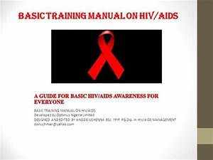 Basic Training Manual On Hiv