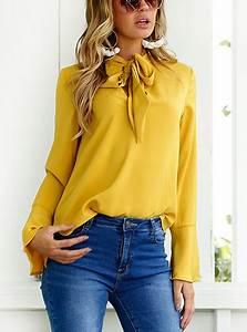 39 s sleeve blouse fashionable silky fabric