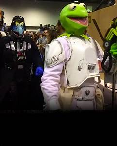 Imperial, Stormtrooper, Muppet, Cosplay, Mashup, From, Star, Wars