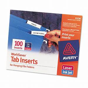 Ave11136 avery printable inserts for hanging file folders for Hanging file folder label inserts