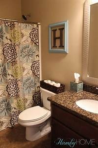 Bathroom decor home tour all things home pinterest for Commodes bathroom tour