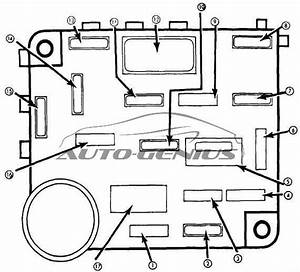 Mercury Zephyr  1978 - 1983  - Fuse Box Diagram