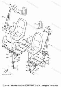 Yamaha Side By Side 2006 Oem Parts Diagram For Seat