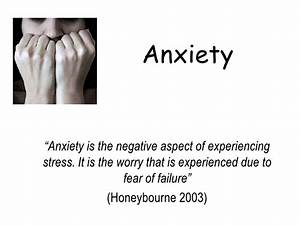 Causes Of Anxiety In Sport