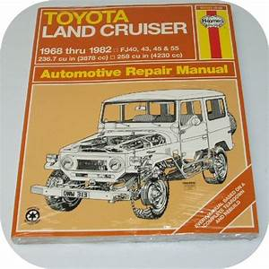 Repair Manual Book Toyota Fj40 Fj55 Land Cruiser Owners