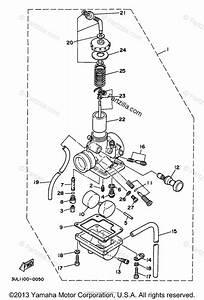Yamaha Motorcycle 1998 Oem Parts Diagram For Carburetor
