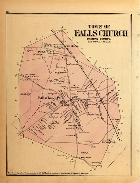 Maps of Falls Church in 1879 Ghosts of DC