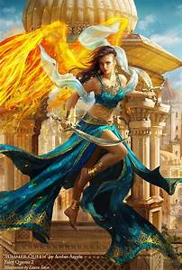 Queen, Fantasy, Sword, Girl, Woman, Dress, Fire, City, Beauty, Wings, Wallpapers, Hd, Desktop, And