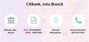 Citibank Juhu Ifsc Code Citi0000037