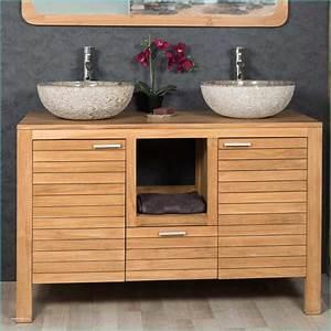 Meuble Sous Vasque Bois Massif : meuble double vasque 120 meuble salle de bain design double vasque siena largeur trendmetr ~ Teatrodelosmanantiales.com Idées de Décoration