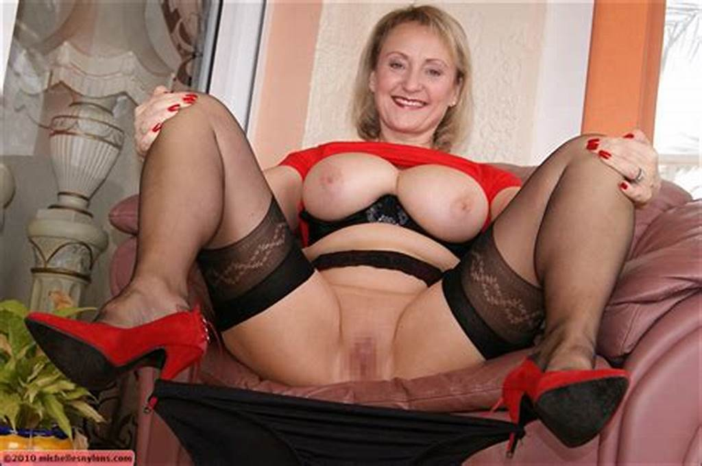 #Very #Classy #Blonde #Old #Lady #Takes #Her #Panties #Off #Spreads